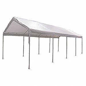 "White Universal Multi-Use Canopy, 26 ft. 7"" Length, 10 ft. 8"" Width, 9 ft. 9"" Center Height"