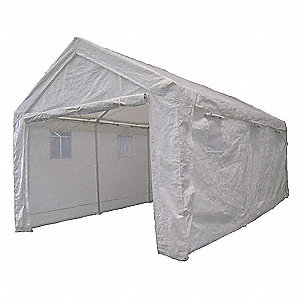 "White Heavy Duty Shelter, 20 ft. Length, 10 ft. 8"" Width, 10 ft. Center Height"