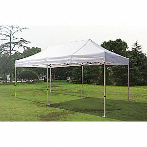 "White Instant Canopy, 19 ft. 2"" Length, 9 ft. 8"" Width, Adjusts to 10 ft. 10"" Center Height"