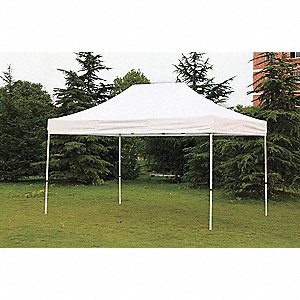"White Instant Canopy, 14 ft. 4"" Length, 9 ft. 8"" Width, Adjusts to 10 ft. 10"" Center Height"