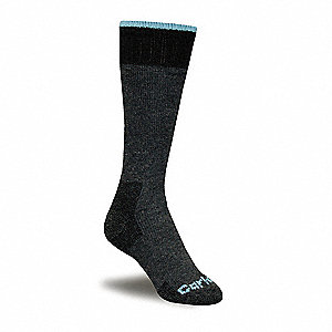 Women's Mid-Calf Outdoor Socks, Charcoal, 1 PR