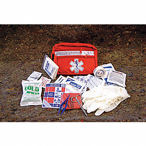 Biosafety First AId Kit,Bulk,Red,52 Pcs