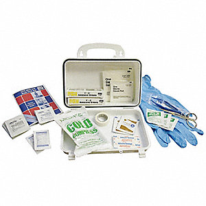 First Aid Kit,Bulk,White,91 Pcs,15 Ppl