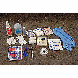 First Aid Kit, Refill, Cardboard Case Material, General Purpose, 25 People Served Per Kit