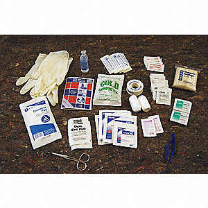 First Aid Kit Refill,Bulk,267Pcs,50 Ppl