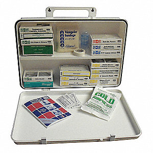 First Aid Kit,Unitized,White,36 Pcs