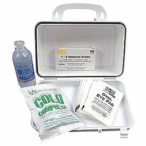 First Aid Kit,Bulk,White,27 Pcs