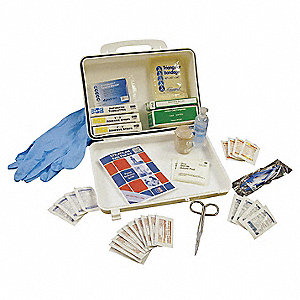 First Aid Kit, Kit, Plastic Case Material, Vehicle, 10 People Served Per Kit