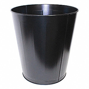 7 gal. Round Black Trash Can