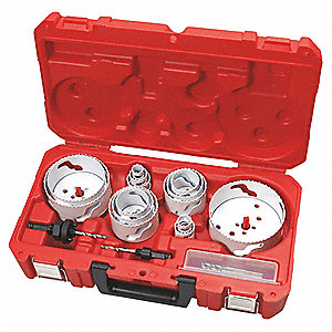 Hole Dozer Hole Saw Kit,1-5/8 In,19 Pc