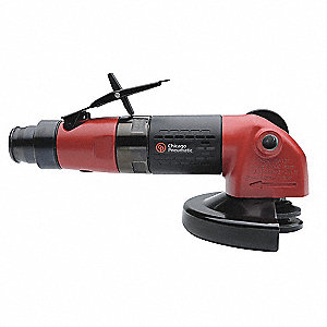 "9-13/64"" Industrial Duty Air Angle Grinder"
