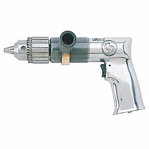 "0.5 HP General Duty Keyed Air Drill, Pistol Style, 1/2"" Chuck Size"