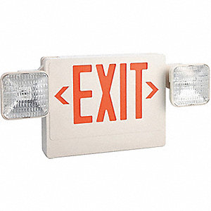 EXIT SIGN INCAND 1 OR 2SD RD LTRS