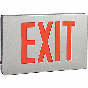 EXIT SIGN LED 1 OR 2 SIDE RD LTRS