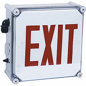 EXIT SIGN INCAND 1 SIDE RD LTRS