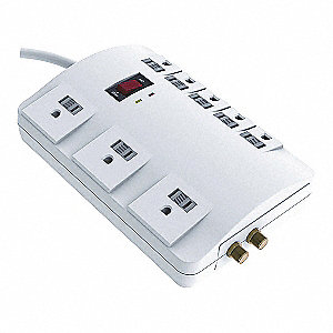 PROTECTOR SURGE 120V 15A 8 OUTLETS
