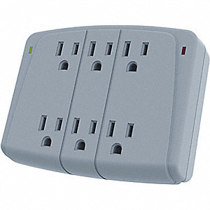 PROTECTOR SURGE 120V 15A 6 OUTLETS