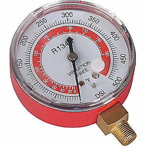 GAUGE 2-3/4IN RED R134A DRY