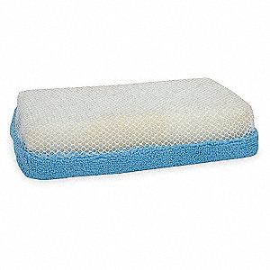 MICROFIBER SCRUB SPONGE BLUE/WHITE