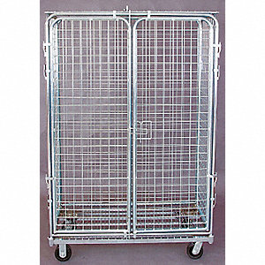 Wire Security Cart,1800 lb.,48 In. L