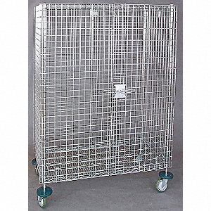 Wire Security Cart,900 lb.,52-3/4 In. L