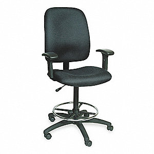 CHAIRS DRAFTING ADJ. BLK