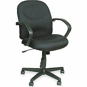 CHAIR MID BACK BLK