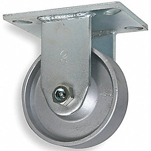 CASTER RIGID 8IN 3500LB FORG STEEL