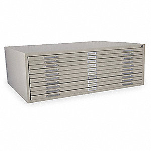 CABINET FLAT FILE 10 DRAWER PUTTY