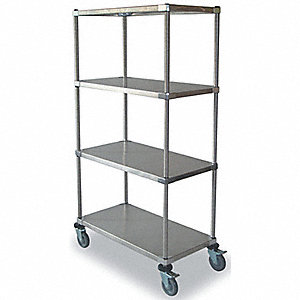 Shelf Cart,2 Shelves,36x18x39