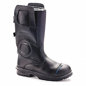 Men's Insulated Structural Firefighting Boots, Size 14, Footwear Width: D, Footwear Closure Type: Pu