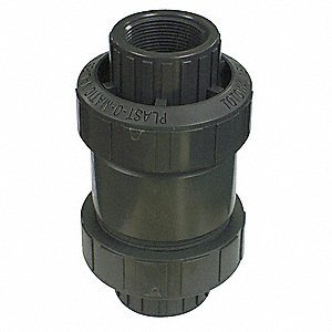Check Valve,Polypropylene,2 In.,FNPT