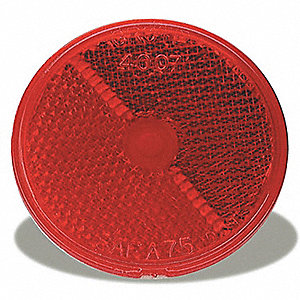 REFLECTOR STICK ON 2-1/2IN RED
