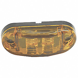 LAMP MARKER OVAL LED AMBER