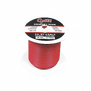 WIRE PRIMARY 16GA RED 100FT/SPOOL