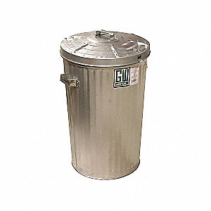 CAN GARBAGE STD PL/LID 15GAL