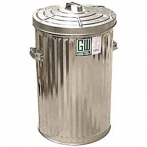 CAN GARBAGE HD PL/LID 28GAL