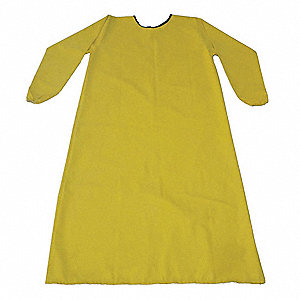 "Smock Apron,Yellow,XL, 46-1/2"" L"