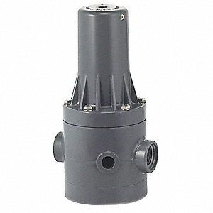 "PRHM Series 5-1/2""L Molded PVC Pressure Regulator, 5 to 125 psi"