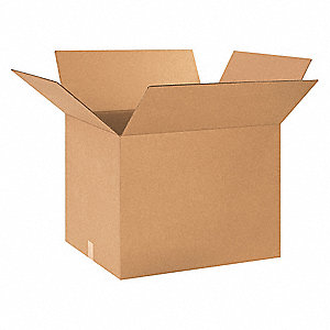 "Shipping Carton, Kraft, Inside Width 20"", Inside Length 24"", Inside Depth 18"", 65 lb., 1 EA"