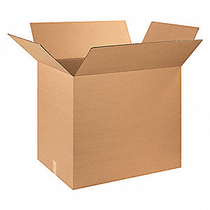 "Shipping Carton, Kraft, Inside Width 20"", Inside Length 28"", Inside Depth 25"", 65 lb., 1 EA"