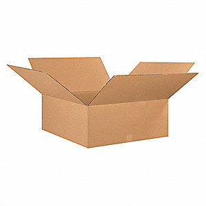 "Shipping Carton, Kraft, Inside Width 30"", Inside Length 30"", Inside Depth 10"", 65 lb., 1 EA"
