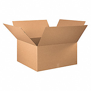 "Shipping Carton, Kraft, Inside Width 30"", Inside Length 30"", Inside Depth 16"", 65 lb., 1 EA"