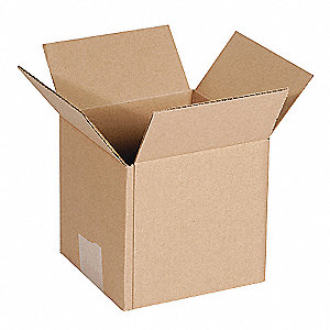 Shipping Carton,Kraft,7 In. L,7 In. W