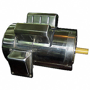 3/4 HP Washdown Motor,Capacitor-Start/Run,1745 Nameplate RPM,115/208-230 Voltage,Frame 56C