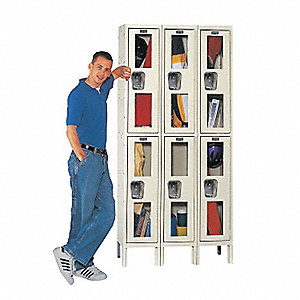 LOCKER SAFETY VIEW 1-TIER 1-WIDE AS