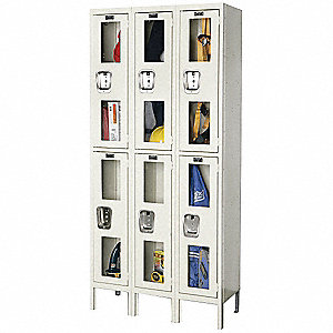 LOCKER SAFETY VIEW 2-TIER 3-WIDE AS
