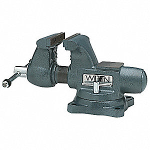 VISE BENCH TRADES SWVL BASE 6-1/2IN