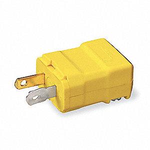 PLUG STR BLADE 15A 125V 2P NON-GRD
