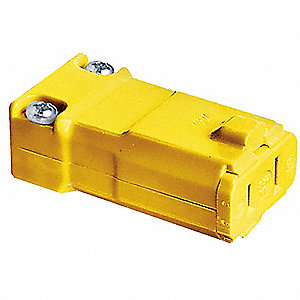 CONNECTOR VALISE 2POLE 15A YELLOW